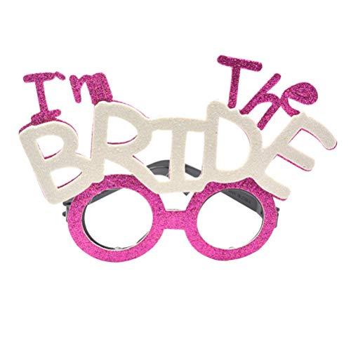 Amosfun Ich bin die Braut Brille lustige Brille Hochzeit Hen Party Bridal Shower Brille Kostüm Requisiten Hochzeitsbevorzugungen