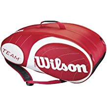 Wilson Team 9Pk - Raquetero , color rojo / blanco, talla NS