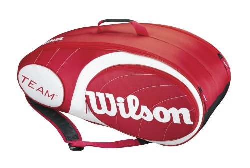 Wilson Schlägertasche Team 9er Racket Bag Red/White