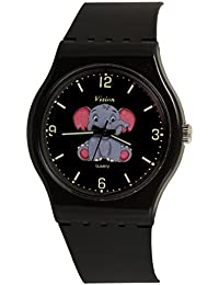 Vizion Analog Black Big Dial (Jumbo-The Baby Elephant) Cartoon Character Watch for Kids-8822-1-1