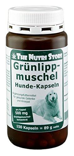 The Nutri Store Grünlippmuschel 500 mg für Hunde Kapseln 150 STK. - Ergänzungsfuttermittel für gesunde Gelenke und Knorpel -