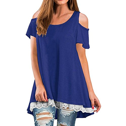 (Luckycat Best Prime Day Deals 2018 Frauen Mode Beiläufig Kurzarm Tops Camisole Bluse Kleid Tanks Tops Sommer T-Shirt Oberteile)