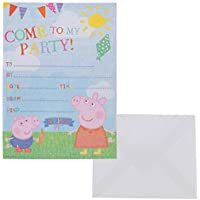 20 Peppa Pig Party Invitations With Envelopes
