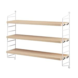 unbekannt string pocket regal 60x50x15cm esche wei lackiert bxhxt 60x50x15cm k che. Black Bedroom Furniture Sets. Home Design Ideas