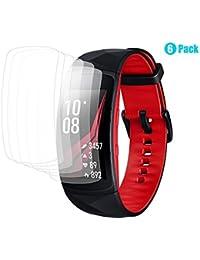 Círculo para Samsung Gear Fit 2 Pro Protector de Pantalla, [6 unidades] Cobertura completa HD Protector de Pantalla/Alta Sensibilidad/Fácil Sin Burbujas/Anti-huellas/Impermeable Protector de pantalla para Samsung Gear Fit 2 Pro
