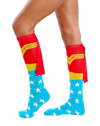 Wonder Woman Knee High Caped Socks (Pair)