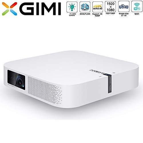 XGIMI Z6 Polar Mini Beamer 1080P HD 700 ANSI Lumen 3D Projektor Heimkino mit Harman Kardon Lautsprecher Android System Support 4K Lampe Lebensdauer bis 50.000 Stunden