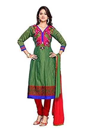 Fabdeal Women Cotton Embroidered Dress Material