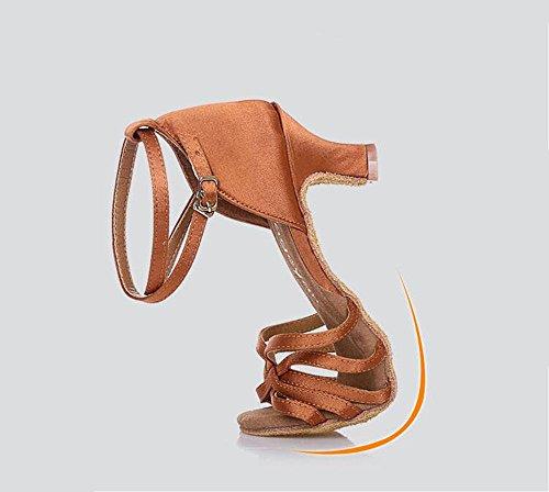 SQIAO-X- Scarpe Da Ballo Cinghie Traspirante, Moderno Adulto Square Dance Latina Scarpe Da Danza Carne