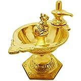 LotusFeet Spirituality Traditional Shiva and Nandi Pooja/Puja Diya Lamp