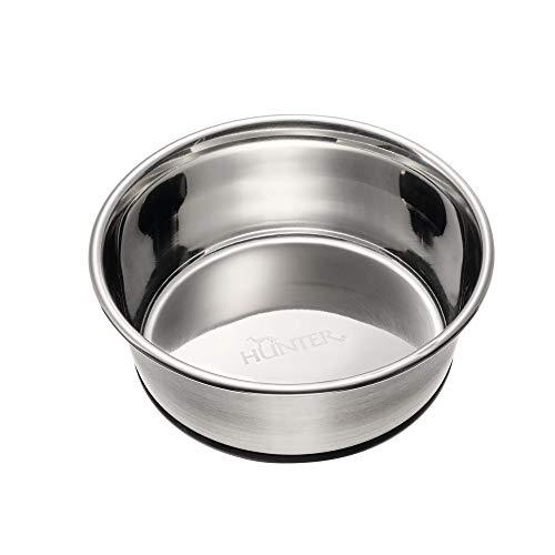 HUNTER EDELSTAHL Futternapf, für Hunde und Katzen, rutschfest, pflegeleicht, 1900 ml