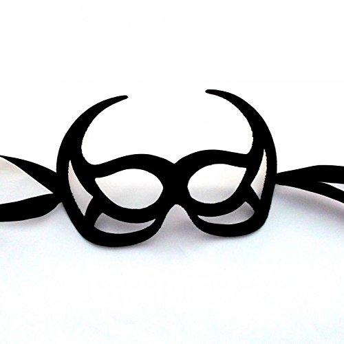 Cornes Noir loup mascarade bal masqué masque venitien pour des hommes - qualité supérieure fabriqué en Italie
