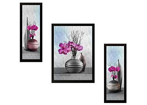 SAF 'Flower Floral' Painting (Synthetic, 13.5 inch x 22 inch)