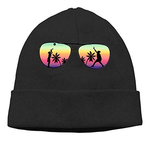 Colorful California Palm Tree Warm Stretchy Solid Daily Skull Cap Knit Wool Beanie Hat Outdoor Winter Fashion Warm Beanie Hat
