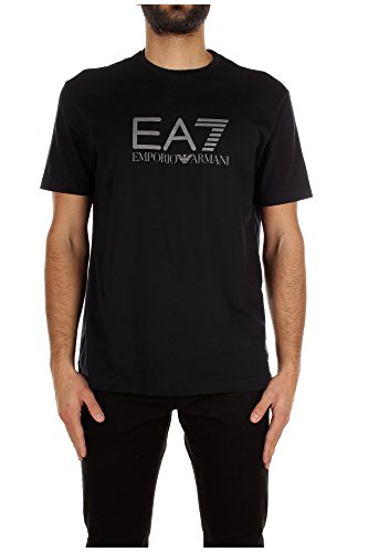 T-Shirt Armani Emporio Uomo Cotone Blu e Grigio 2730095P23702836 Blu 3XL
