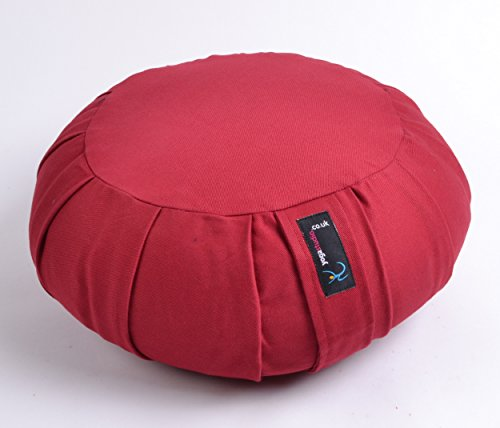 Yoga Studio Zafu Coussin rond de méditation, Rosso - Rosso - burgund