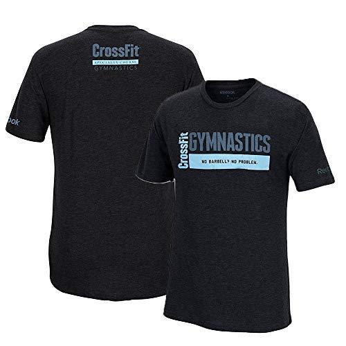 Reebok Crossfit Specialty Course Gymnastics Men's Black Tri-Blend Premium T-Shirt (2XL) -