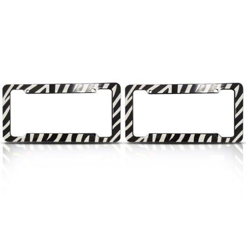 Zebra License Plate Frames (Set of Two) Made Of Plastic by Allwetter (Kennzeichenhalter Zebra)