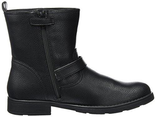 Geox Unisex-Erwachsene Jr Sofia C Biker Boots Schwarz (Black)