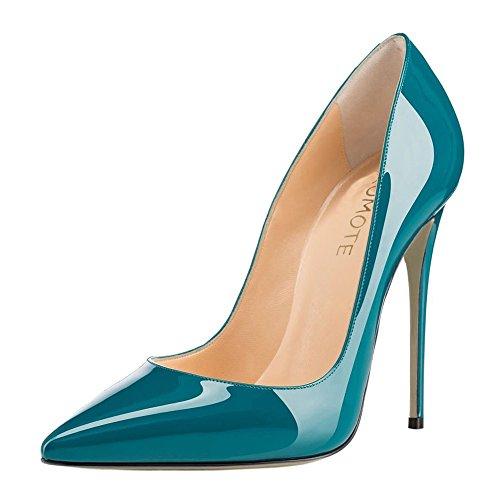 MERUMOTE , Chaussures à talon fin femme - Teal-Lackleder