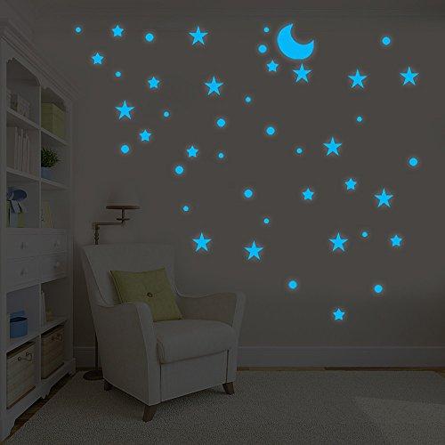 Dtuta Mode Kreative DIY Im Dunkeln Leuchten Sterne Wandaufkleber Dot Star Moon Glow Kinderzimmer Dekoration