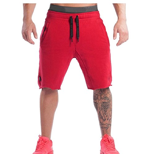 Gocgt Men Casual Sport Cotton Jogging Fitness Short Pants