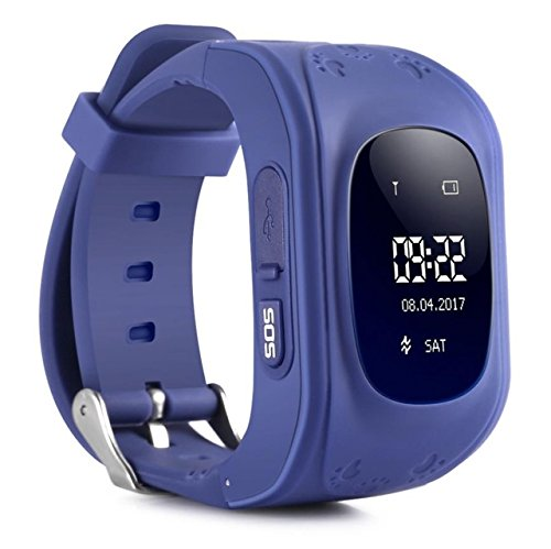 Smart Gadgets 2017 GPS Tracker Smart Watch for Kids with Sim Card Smartwatch Phone Anti-lost Finder SOS Gprs Children Fitness Tracker Wrist Watch Bracelet with Parents Control App for Smartphone …