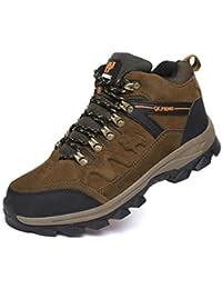 QLFENG Senderismo Botas Mens Trail Mountain zapatos para caminar Viajes Camping Outdoor Zapatillas más tamaño disponible 39-47