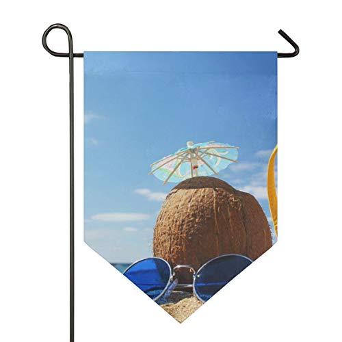 FANTAZIO Strandbilder Gartenflaggen Premium Qualität Hofurlaub und saisonale Dekorationsflaggen für den Außenbereich - doppelseitig, Polyester, 1, 28x40in