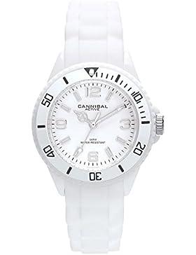 Cannibal Unisex-Armbanduhr Analog Silikon weiß CK215-01