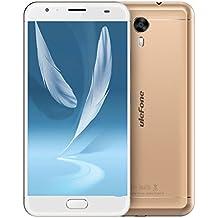 Ulefone-power2 - 6050mAh Smartphone Libre 4G de 5.5'' FHD (Android 7.0, cámaras 13 MP + 8 MP, 64GB ROM+4GB RAM, 8 núcleos MTK6750, OTG, lector de huellas), Oro