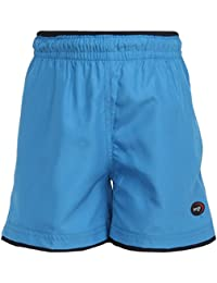 berge'' Boy's Neon Blue Woven Shorts