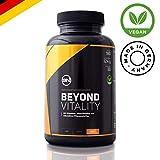 Natürlich FIT mit Beyond Vitality - 22 Antioxidantien, Vitamine & Mineralstoffe ohne Chemie mit OPC, Alpha-Liponsäure, Maca, B12, D3, K2, Zink und mehr | hochwertige 180 vegane Kapseln