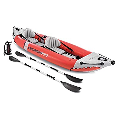 Intex Excursion Pro Kayak, Professional Series Inflatable Fishing Kayak