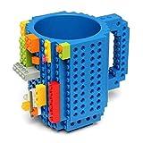 Soyion Kreativer Building Brick Mug DIY Brick Tasse DIY-Montage Kaffeetasse Becher,Weihnachten Geschenk Idee(Blau)