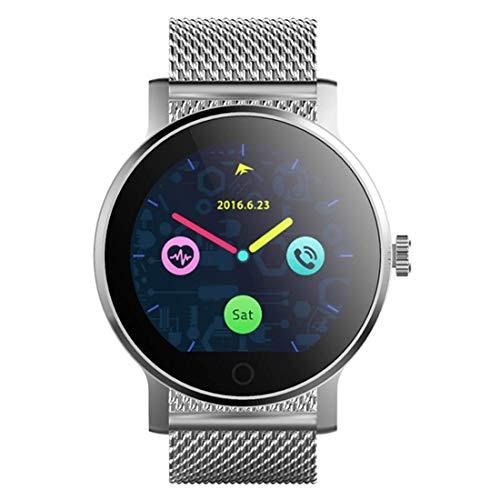 DBSCD DBCSD Uhren 1,28 Zoll Farbe Touchscreen Bluetooth Lederband Smart Watch, Unterstützung Bluetooth Calling/Pulsmesser/Schlaf Monitor/Remote-Kamera, kompatibel mit Android und iO