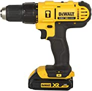 DEWALT DCD776S2 18V 13mm XR Lithium-Ion Cordless Hammer Drill/Driver with 2x1.5 Ah Batteries included