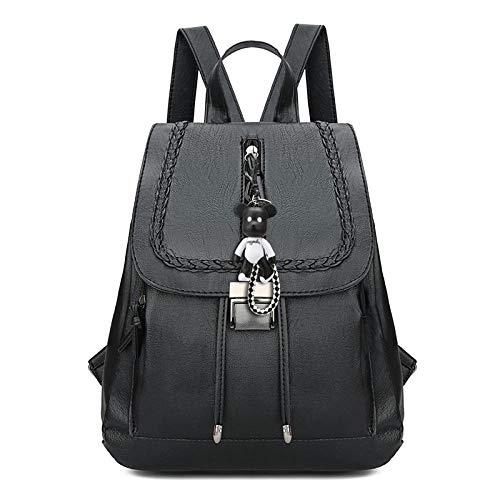 CDBWHL Zaino donna Mini Borsa a forma di orso casual @ Borsa a tracolla alla moda leggera nera elegante Zaino da viaggio antifurto da viaggio