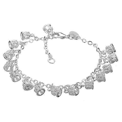 Schönes Armband, Modeschmuck, 925Sterling Silbe mit mehreren Glöckchen für Damen