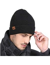 d7b8842f1634a2 iHomey Winter Mütze für Männer & Frauen Thermo Fleece gefüttert weichen  Strickmütze ...