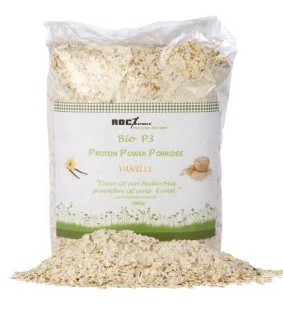 Vanille Haferflocken (RoC-Sports Bio Protein-Porridge Vanille | 100% Bio | feine Haferflocken mit Mehrkomponenten Bio Eiweiß-Pulver | ohne Süßungsmittel, Zuckerzusätze)