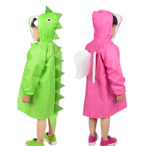 Rainbrace Kids Raincoat Suit Age 2~10, Dinosaur & Angel Children