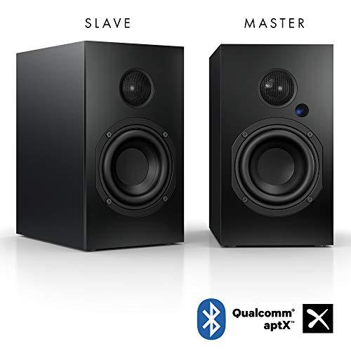 Nubert nuBox A-125 Regallautsprecherpaar | Lautsprecher für Musikgenuss | Heimkino & HiFi Qualität auf hohem Niveau | aktive Regalboxen mit 2 Wege Technik | Kompaktlautsprecherset Schwarz | 2 Stück