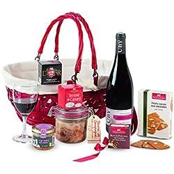 """Ducs de Gascogne - Coffret gourmand """"Le Généreux"""" - Comprend 7 produits dont un bloc de foie gras - Idée cadeau Noël - 979521"""