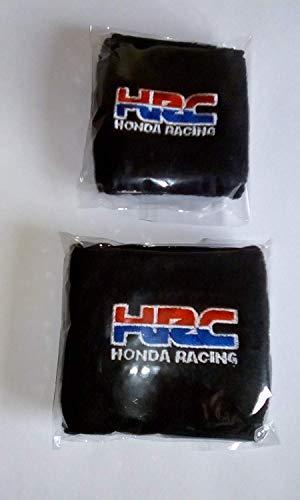 Par Negro Honda Hrc Moto Delantero y Trasero Depósito Líquido de Frenos Cubiertas Funda Calcetines