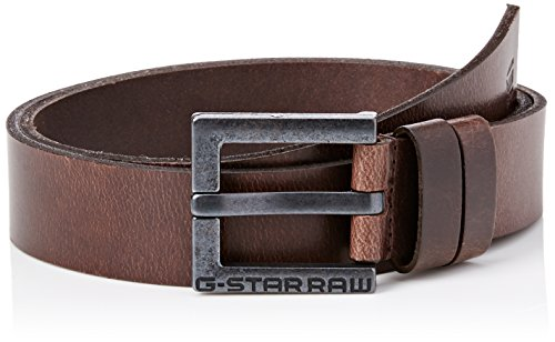 G-STAR RAW Herren Duko Gürtel, Braun (dark brown/black metal), 115(UK)