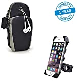 Azacus Waterproof Armband with Carry Pocket for Keys and Cards and Bike Holder-Combo
