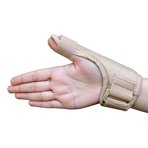 provectus Daumenschiene | Daumen Stabilisator | Daumenstütze für Tissue Verletzungen | Unterstützung-Bandage mit Daumenschiene leicht, atmungsaktiv | passt für beide Hände (beige Farbe) von healthgoodseu -