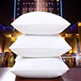 "LASER WINGS Microfiber 16""x16"" Cushion Filler Set of 3-White"
