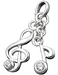 Schmuck Anhänger Kettenanhänger Notenschlüssel Silber 925